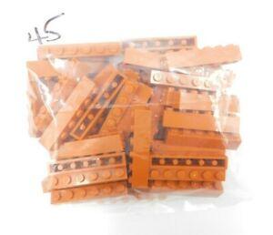 45 x New LEGO Dark Orange Brick 1 x 6