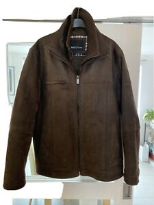 mens barneys original brown leather jacket