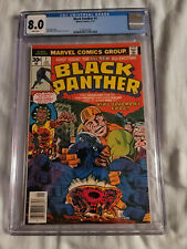 BLACK PANTHER 1 CGC 8.0. WHITE PAGES. FIRST SELF TITLED COMIC.