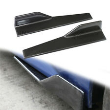 CF Black Side Skirt Rocker Splitters Winglet Wings car body Decorative spoiler