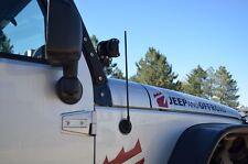 "Black 21"" SS Antenna Stubby for Jeep Wrangler JK 2007-14 Easy Install Great Look"