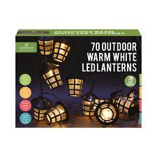 70 Warm White LED Lanterns Garden Lantern String Lights Indoor Outdoor 10m Cable