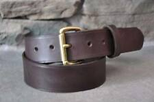 "Men's Brown  Leather Belt 1 1/2"" Wide Custom Made Quality Handmade Amish  USA"
