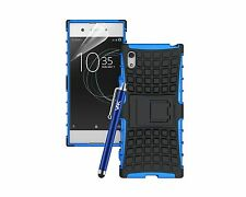 Heavy Duty Tough Shockproof Bumper Armour Hybrid Case Cover For Sony Xperia XA1
