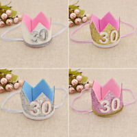 Bling-Bling Sequins Birthday Crown Hat Charms Lovely 30th Birthday Celebrations