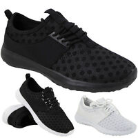 NEW LADIES RUNNING TRAINERS WOMENS SLIP ON LACE UP FITNESS GYM SPORTS SHOES SIZE
