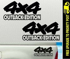 4x4 OUTBACK EDITION PAIR BIG DECALS 4WD 300mm Stickers