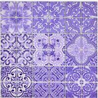 Glasmosaik violett Fliesenspiegel Bad Wand Küche WC 68-Retro-I | 10 Matten