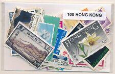 Hong Kong    US  Paquete  100 sellos diferentes
