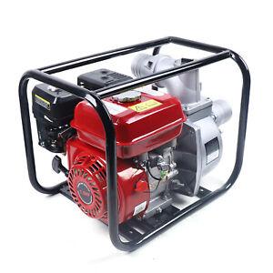 "7.5 HP 3"" Gasoline Water Semi Trash Pump High Pressure Water Transfer Irrigation"