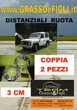 Coppia Distanziali Ruota For Land Rover Defender 90 110 1983 ->  3 cm 30 mm