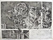 Hermann Ober 1920 - Freilassing / Radierung mit Prägedruck, handsigniert / 1960