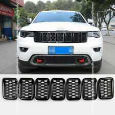 For Jeep Grand Cherokee 2017-2020 Black Front Insert Honey Comb Mesh Grille Trim