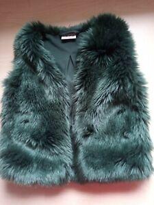 Girls Next Green Faux Fur Gilet Age 2-3 Years