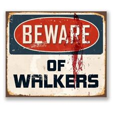 The Walking Dead TV Show Walkers Zombie Retro Door Metal Aluminium Vintage Sign