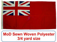 Red ensign traditionally sewn MoD approved flag stitched panel woven 3/4yd small