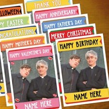 FATHER TED Personalised Card ANY OCCASION - xmas, romantic, holiday personalized