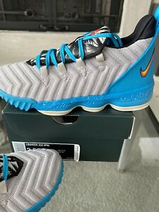 Nike LEBRON XVI Basketball Shoe Boys OR Girls Size 2.5 Youth/Kids