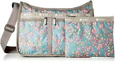 LeSportsac Laelia Moss Deluxe Everyday Crossbody Bag,Light Teal/Turquoise Orchid