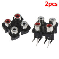2pcs 4way 6Pin RCA Female Audio Video Plug AV Concentric Socket Connector_ws
