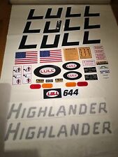 JLG Lull 644 Highlander Decal Kit
