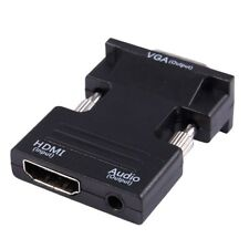 1080P HDMI Female to VGA Male with Audio Output Cable Converter Adapter I6D9