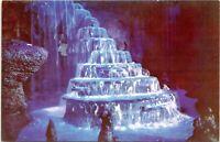 1950s Disneyland Red Frontierland Rainbow Caverns C-14 Postcard BO