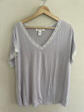 Barefoot Dreams Luxe Milk Jersey Pajama Top Short Sleeve Size XL