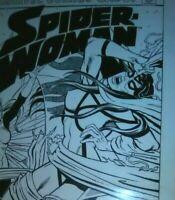 Spider Woman 48 comic original art cover Postman Rubenstein 06 revisited 11 x 17