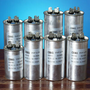CBB65 450VAC 50/60Hz Air Conditioner Compressor Motor Start Run Capacitor