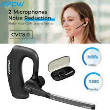 Mpow Handsfree Headphone Wireless Bluetooth Headset Earpiece Mic For iOs Android