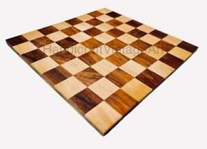 12x12 Inches Maple Wood Borderless Flat Chess Board for Tournament players