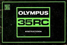 1970s OLYMPUS 35RC 35mm CAMERA INSTRUCTION MANUAL -OLYMPUS
