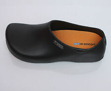 [STICO] Mens Chef Kitchen Shoes Non-Slip Anti Slip Rubber Occupational BLACK