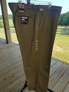 "NWT Docker's Signature Khaki Pants Men's size 46"" waist hemmed to 28"" length"