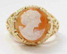 14k Yellow Gold Cameo Stone Ladies Ring