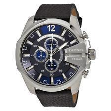 Diesel Mega Chief Navy Blue Dial Mens Chronograph Watch DZ4423