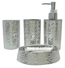 Soap Dish Dispenser Tumbler Toothbrush Holder Gift Set Bathroom Accessory 4 Pcs