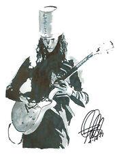Buckethead, Guns N' Roses, Lead Guitar, Progressive Metal, 8.5x11 PRINT w/COA 3