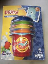 Nuby Bathtime Fun -Splish Splash Bath Cups. 5 Cups