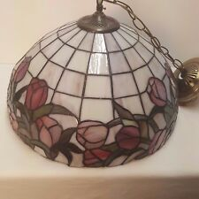 Tiffany Style Hanging Lamp Stained Glass Light Ceiling Lighting Fixture 16 Inch