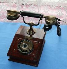 Antique Telephone SIEMENS & HALSKE Old Wood Telephone Original Vintage