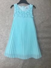 Designer,Rocha John Rocha, Girl's Pale Green Chiffon Pleated Summer Dress,Age 5.