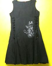 Joe Browns Goth Festival Rockabilly Black Cotton Dress Plus size 18