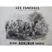 BOHLMAN SAUZEAU Henri Les Faneuses Piano ca1846 partition sheet music score