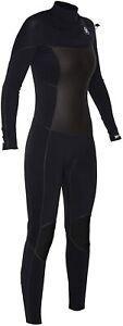 New $380 Women's Hurley Phantom 202 Wetsuit 2mm Full Suit Black Size 4 6 8