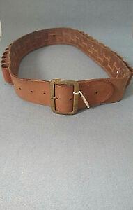 Brady of Halesowen vintage brown leather open loop shotgun cartridge belt(12G)
