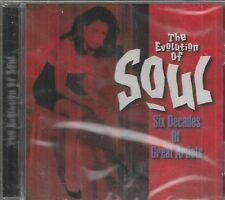 The Evolution of Soul CD - Six Decades of Great Artists  Brand New and Sealed