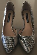 "Gorgeous PIED A TERRE ""Evoke"" Snakeskin Print PU Stiletto Shoes Size 8"