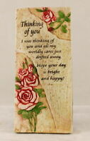 Freestanding Hanging/Wall Plaque with Inspirational Saying - Thinking Of You